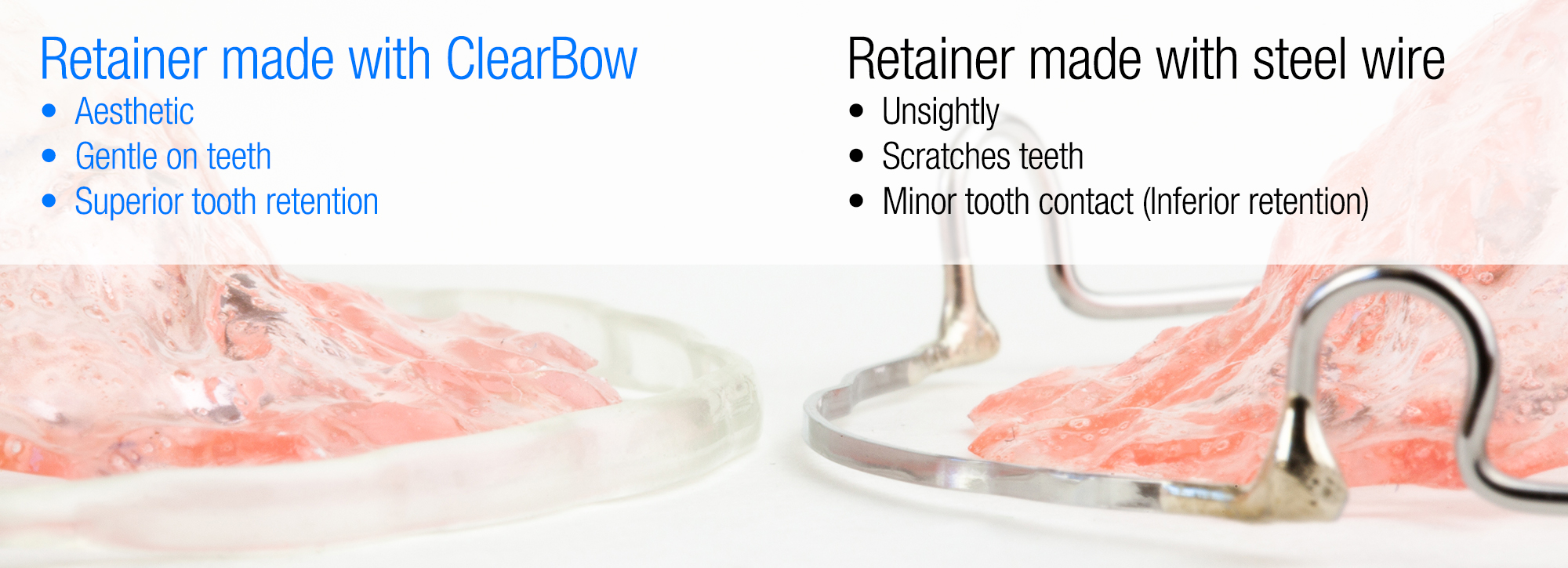 ClearBow Hawley Retainer - Clear Retainers After Braces